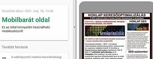 honlap mobil optimalizálás